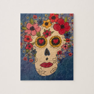 Day of the Dead Sugar Skull Art Puzzle w/Gift Box