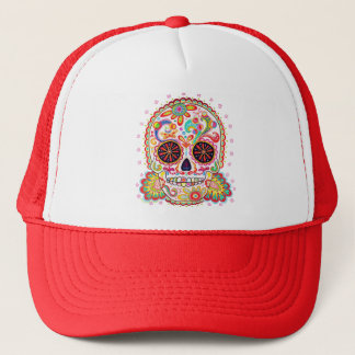 Day of the Dead Sugar Skull Hat