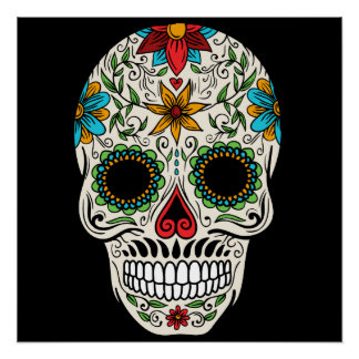 Day of the Dead Sugar Skull Perfect Poster