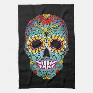 Day of the Dead Sugar Skull Tea Towel
