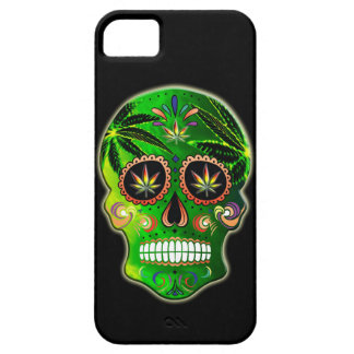 Day of the Dead Sugar Skull weed iPhone 5 Cover