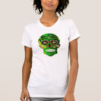 Day of the Dead Sugar Skull Weed Shirt