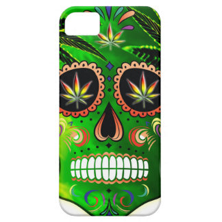 Day of the Dead Sugar Skull weed Shirt iPhone 5 Cases
