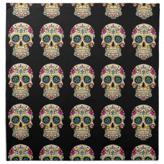 Day of the Dead Sugar Skull with Cross Napkin
