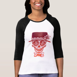 Day of the Dead Sugar Skull with Hat T-Shirt