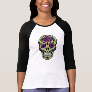 Day of the Dead with Purple Rose Shirt