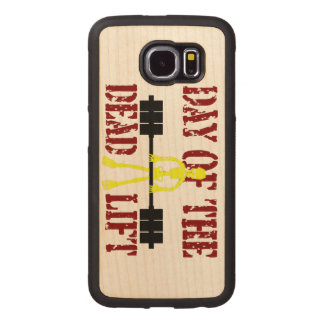 Day Of The DeadLift Wood Phone Case