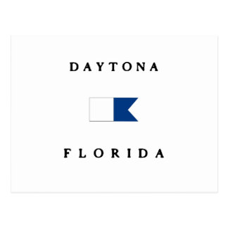 Daytona Florida Alpha Dive Flag Postcard
