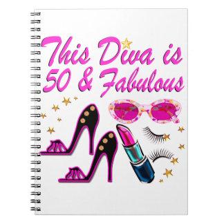 DAZZLING 50TH DIVA NOTEBOOKS