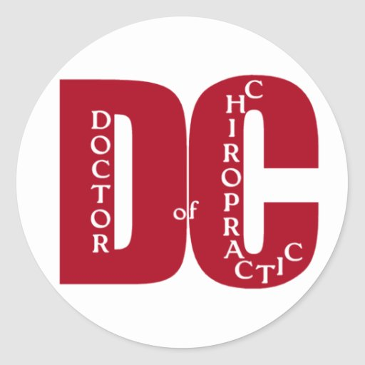 DC Big Red DOCTOR OF CHIROPRACTIC MEDICINE Sticker
