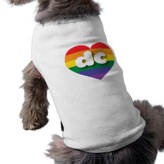 dc gay pride rainbow heart - mini love shirt