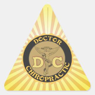 DC LOGO DOCTOR CHIROPRACTIC CADUCEUS TRIANGLE STICKER