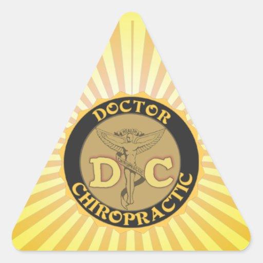 DC LOGO DOCTOR CHIROPRACTIC CADUCEUS STICKER