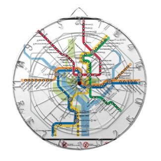 DC METRO MAP DART BOARD