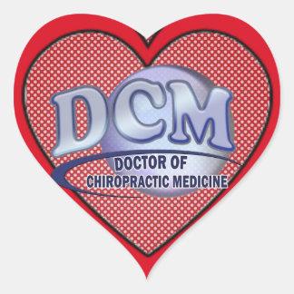 DCM DOCTOR CHIROPRACTIC MEDICINE BLUE LOGO HEART STICKER