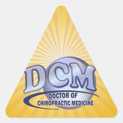 DCM DOCTOR CHIROPRACTIC MEDICINE BLUE LOGO STICKERS