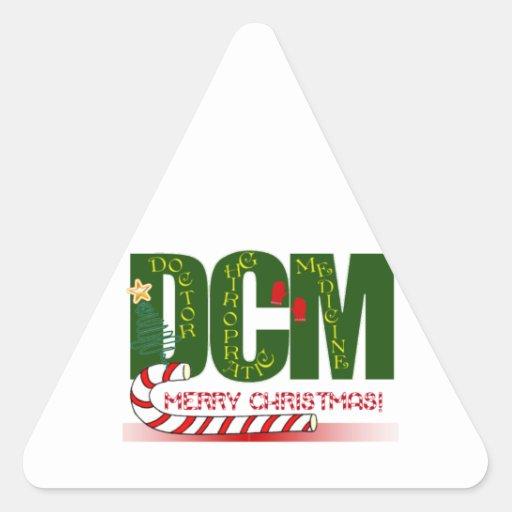 DCM DOCTOR CHIROPRACTIC MEDICINE  CHRISTMAS STICKERS