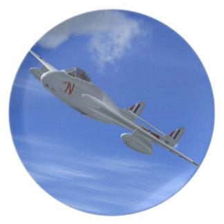 De Havilland Vampire Jet Fighter Plate