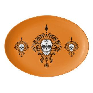 Dead Damask - Chic Sugar Skull Trio Platter