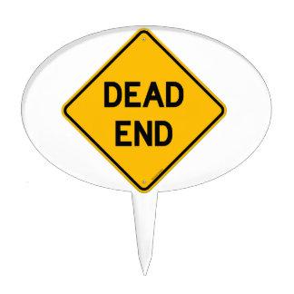 Dead End Sign Cake Picks