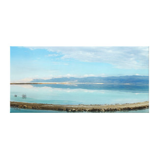 Dead sea panorama mountains blue water reflection stretched canvas prints