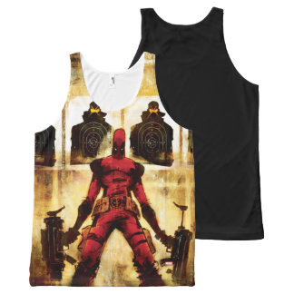 Deadpool Firing Range All-Over Print Tank Top