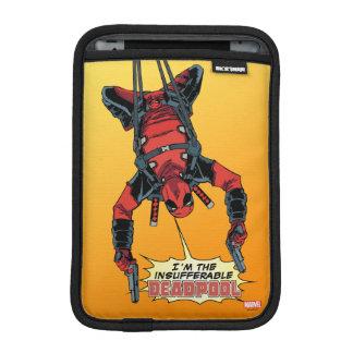 Deadpool Hanging From Harness iPad Mini Sleeve