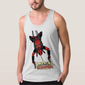 Deadpool Hanging From Harness Singlet