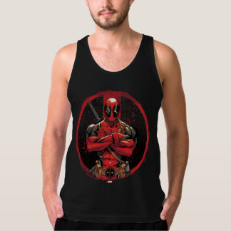 Deadpool in Paint Splatter Logo Singlet