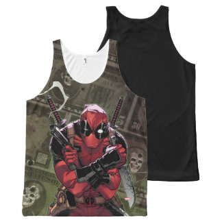 Deadpool Money All-Over Print Tank Top