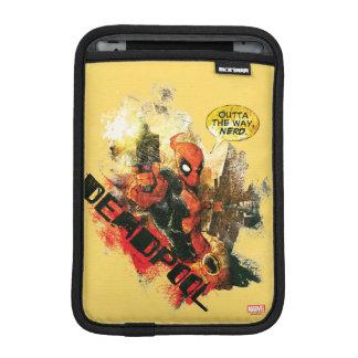Deadpool Outta The Way Nerd iPad Mini Sleeve