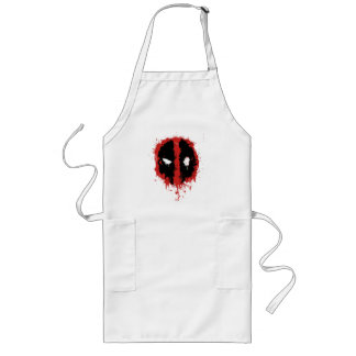 Deadpool Paint Splatter Logo Long Apron