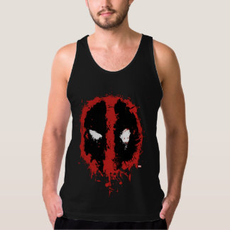 Deadpool Paint Splatter Logo Singlet