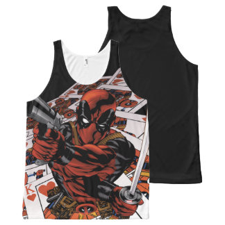 Deadpool Playing Cards All-Over Print Tank Top