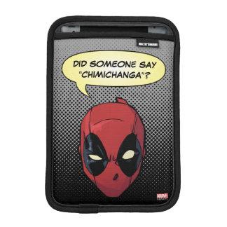 Deadpool's Head iPad Mini Sleeve
