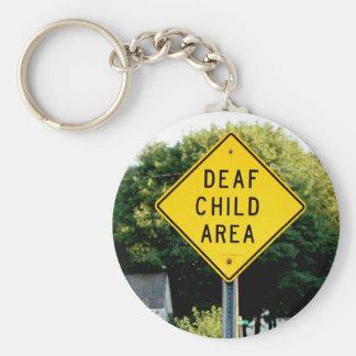 Deaf Child Area Key Chain