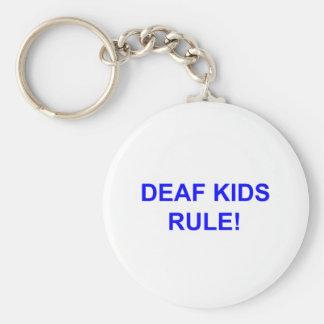 DEAF KID RULE BASIC ROUND BUTTON KEY RING