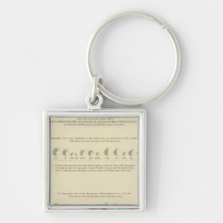 Deaf Mutes, Statistical US Lithograph 1870 Key Ring