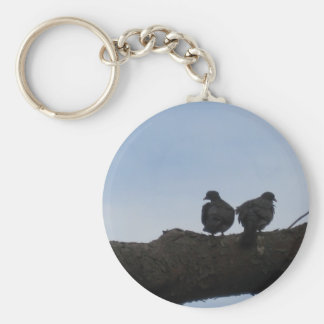 Deaf ones falls in love basic round button key ring