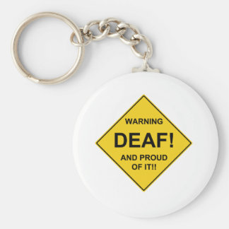 Deaf Proud Basic Round Button Key Ring