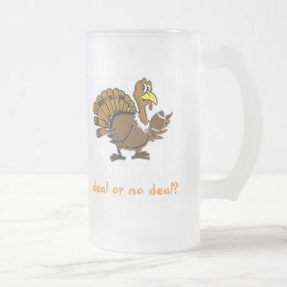 Deal or no deal? frosted glass mug