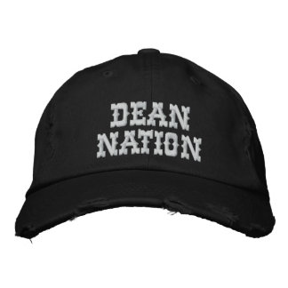 Dean Nation Distressed Adjustable Cap Embroidered Baseball Caps