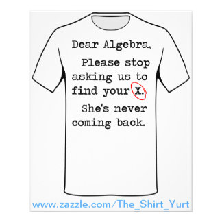 Dear Algebra Please Stop Asking Us To Find Your X Flyer