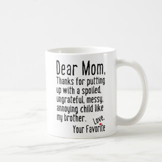 Dear Mum [Brother Version] Coffee Mug