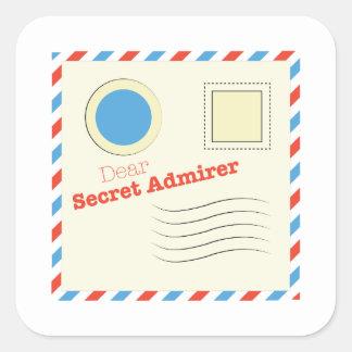 Dear Secret Admirer Square Sticker