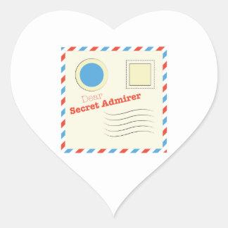 Dear Secret Admirer Heart Sticker