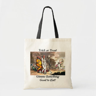 Death and the Circus Trick or Treat Tote Canvas Bag