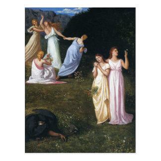 Death and the Maidens by Pierre Puvis de Chavannes Postcard