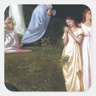 Death and the Maidens by Pierre Puvis de Chavannes Square Sticker