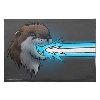 Death Laser Otter- Blue (Placemat) Placemat